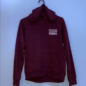 maroon billabong hoodie